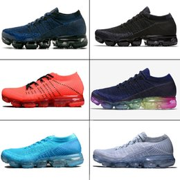 Wholesale Rubber Band Weave - VaporMax Women Men Running Shoes Weaving racer Ourdoor Athletic Sporting Walking Sneakers for Women Men Fashion pink Casual maxes Size 36-45