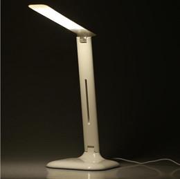 Wholesale Led Rotating Table Lamp - 2016 New arrivlas 5-Level Adjustable Brightness 4W 14 LEDs 3 Lighting Modes Touch Rotating Foldable Reading Light Desktop Table Lamp