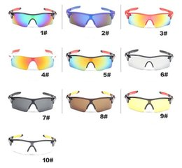 Wholesale Designer Sunglasses Uv - Men Cycling Sunglasses Brand Designer Sun Glasses Outdoor Sport Glasses UV Protection Fashion Dazzle Colorful Riding Sunglasses ~MN9181