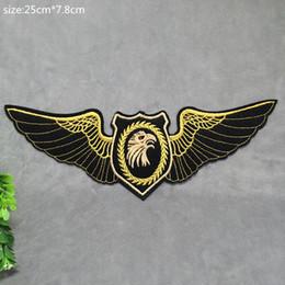 7.8 CM * 25 CM Nouveau Harley Eagle Badge Brodé Appliques DIY Tissu Accessoires Chapeaux Sacs Chaude Coller Patch ? partir de fabricateur