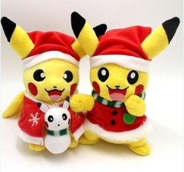 Wholesale Stuffed Animals For Ems - Christmas Poke Plush toys pikachu Stuffed Animals & Plush Toys for Children Gift 20cm(8inch) EMS shipping