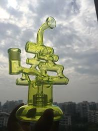 Sıcak Satış Yeni varış iki fonksiyonları cam su borusu cam bong cam bubbler Keman Recycler ile lastik tespiti 14.5mm kadın ortak cheap violins sale nereden keman satışı tedarikçiler