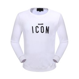 Wholesale Icon Printing - 2018 New Arrivals fashion Men Embroidery Icon Sweatshirt Ribbed Crewneck Pullover for Men Long Sleeve Men Jumper Brand Moletom Masculino