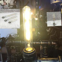 Wholesale Vintage Glass Tubes - Antique Retro Vintage LED Edison Bulb E27 LED Bulb Filament Light 220V Glass led tube Bulb Lamp 2300K led Light Lamp warm white
