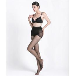 2019 bikini gabbia Calzamaglia da donna alta elasticità Leggings da donna Fitness invernale Leggings sottili da collant Sexy da donna a vita bassa Calze Calze da carne nere