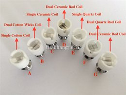 Wholesale E Cigarette Skull Head - Quartz dual wax Coil e-cigarette wax Coil glass globe atomizer ceramic Core ceramic Wax coil head for glass globe bulb skull atomizer kit
