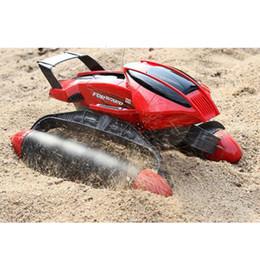 Wholesale Cars 18 - Wholesale-Electric RC Car toy-thread push Beach amphibious remote control boat remote control kids car toy
