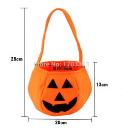 Wholesale Candy Funny - Trick or Treat Hallowen Smile Pumpkin Bag Kids Candy Bag Funny Cute Candy Handbag Housekeeping & Organizers #GH-64