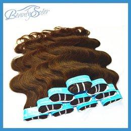 Wholesale 1kg hair extensions - Wholesale-Wholesale Brazilian Body Wave Hair Extensions Medium Brown Color 1Kg 20Pieces Lot Virginal Brazilian Hair Weaves No Mixed 5A