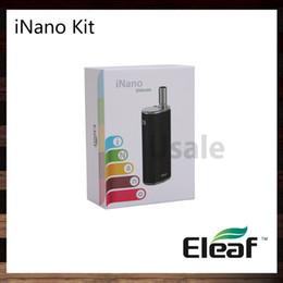 Eleaf iNano Kit avec 0,8 ml d'atomiseur iNano Batterie 650mah Apparence minuscule et fonctionnement facile Connecteur magnétique innovant 100% Original ? partir de fabricateur