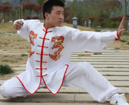 Wholesale Tai Chi Clothing Cotton - unisex Ssangyong Tai Chi clothing martial arts spring and summer practice performance uniforms