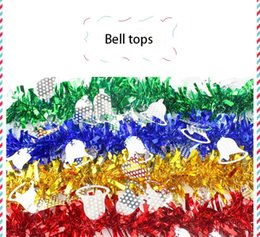 Wholesale Christmas Presents Ornaments - Christmas decorations present DIY Party Christmas tree decoration colorful Ribbon Pull flowers ornament high quality Party Supplie wholesale