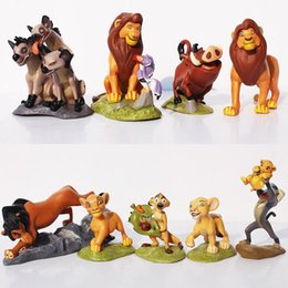 Wholesale Lion King Action Figures - 9 PCS 5~9CM High The Lion King Action Toys Figures PVC Cartoon Anime Figures Toys Free Shipping