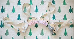 Wholesale Wood Fashion Accessory - Baby Kids Cute Wood Camera Toys Children Fashion Clothing Accessory Safe And Natural Toys Birthday Christmas Gift