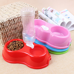 Wholesale Feeders Water Automatic - Hot Sale Cat Dog Bowl With Water Dispenser Pluggable Bottle Pet Feeders Automatic Food Water Bowl For Cat Dog Pet Supplies