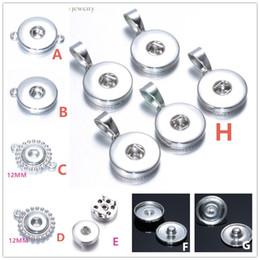 Beaucoup de styles alliage de métal 18mm / 12mm Noosa Ginger Snap bouton Base Pendentif Bijoux Résultats Accessoires pour DIY Bouton Bracelet Collier ? partir de fabricateur