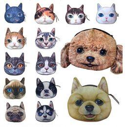 Wholesale Dog Pouches - Cat Dog Pet Face Women Coin Wallet Purse Mini Bag Kids Coin Purse Pouch Women Wallets Coins Bags 14 Type