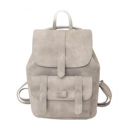 Wholesale Backpacks For Teens - Fashion Backpack Women Backpacks Solid Vintage Girls School Bags for Teen Girls Black PU Leather Bolsa Shoulder Bag Bagpack