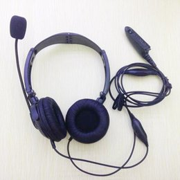 Wholesale Walkie Talkie Noise - Folding Headset earphone noise canceling with mic vox for motorola gp328 gp340 gp338 gp390,pxt760 pxt780 ht750 etc walkie talkie