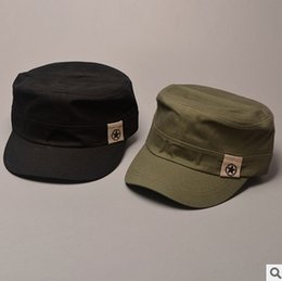 Wholesale Mens Casual Military Army - Plain Cotton Military Star Hats With China Map Print Inside For Adults Mens Womens Summer Sun Caps Black Army Green Navy Beige Brown Color