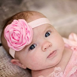 Wholesale Christmas Props For Baby Photography - New baby flower Headband baby bows headband hairband for Newborn Infants Photography Props Children Hair Accessories Girls Headwear