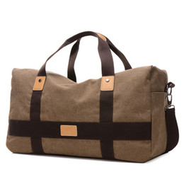 Wholesale Bag Mens Large - Wholesale-Travel Duffle Large Capacity Mens Travel Bags Canvas Patchwork Men Bags European Style Bags