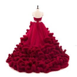 Wholesale Ball Gowns Colorful - 2017 Luxury Colorful Quinceanera Dresses Ball Gowns Long Train Beaded Cloud Designer Sweet 16 Dresses Sweetheart Plus Size Bridal Gown