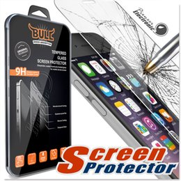 Wholesale Iphone Anti Shock - Shock Bull Brand For Iphone 8 Tempered Glass Screen Protectors For Iphone 7 Plus Iphone 6 2.5D Explosion Shatter Screen Protector Galaxy ON5