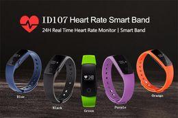 2019 bluetooth armbänder armbänder Fitbit ID107 Bluetooth Pulsmesser Smart Band Armband Armreif Smartband Fitness Tracker Sport Armbänder für Android iOS Smartphone günstig bluetooth armbänder armbänder