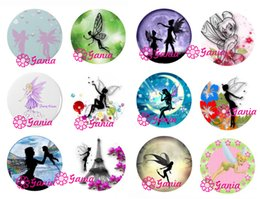 Wholesale fairy stone jewelry - DIY 18mm Cabochon Glass Stone Buttons Inspired Cute Fairy Snaps for 18mm Snap Jewelry Bracelet Necklace Ring Earrings