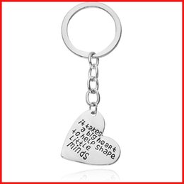 Wholesale Initial Letter Ring - 2016 new letter initials heart keychain alloy heart love sheap pendants key rings key chains bag hangs 170589