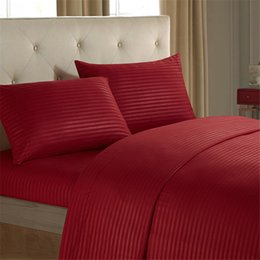 Wholesale Bedding Sheet Set Full Size - NEW free shpping 3 4pcs 1000TC Egyptian Cotton Queen or King Size Bed Sheet Set (Stripe). 4 Pieces - New