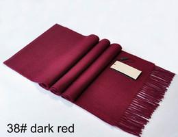 Canada gros doux couleur pure hiver marque foulard en cachemire homme et femmes B-008 Offre
