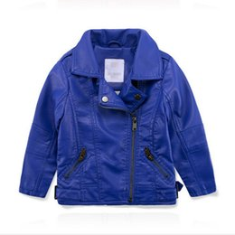 Wholesale Boys Jacket 14 - Autumn Girls Fashion Style Girl PU Jacket,Children Leather Coats For boys, winter Outerwear Kids 2~14 years boys jacket coat
