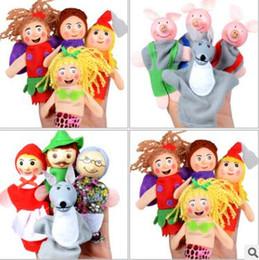 Wholesale Stuffed Princess Toy - Fairy Tales Mini Baby Toys Cute Cartoon Mermaid Princess Animal Finger Puppet Plush Toys Child Baby Favor Dolls Boys Girls Finger Puppets