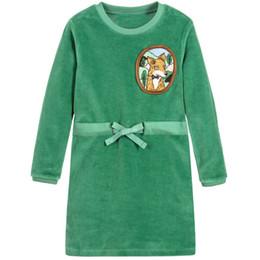 Wholesale Lolita Green - Kidsalon Princess Party Dress Girls Christmas Dresses 2017 Long Sleeve Baby Girl Clothes Kids Costumes Children Clothing