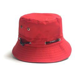Wholesale Plain Bob - Wholesale-Black White Red Navy Boy Bucket Hat Bob Boonie Hunting Floral Reversible Fishing Hat Hip Hop Panama