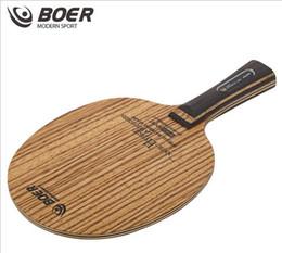 toalhas de tênis de mesa Desconto Atacado- BOER zebra lâmina de raquete de tênis de mesa punho longo e punho curto