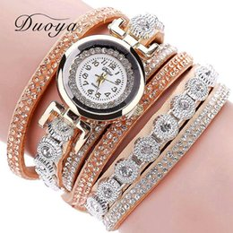 Wholesale Vintage Rhinestone Belts - hot Fashion Luxury Rhinestone Bracelet Watch Ladies Quartz Watch Casual Women Vintage Wristwatch Relogio Feminino DY038