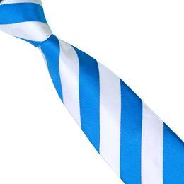 cravatte di cravatta Sconti Cravatta in tessuto stile coreano per uomo Solid Blue e bianco Corbatas 6 cm Cravatta sottile formale Evento sociale Mens Cravatte Cravatte economici E-033
