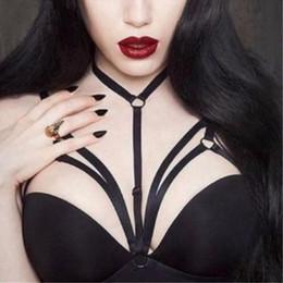 Wholesale Sexy Hot Lingerie Womens - New Hot Sexy Womens Underwear Goth Cage Bra Garter Belt Pentagram Erotic Chest Body Bridal Suspender Bondage Lingerie