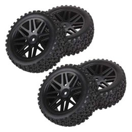Wholesale Rc Buggy Wheels - 4pcs Wheel Rim & Rubber Tyre Tires Front & Rear for RC 1 10 Off-Road Car By