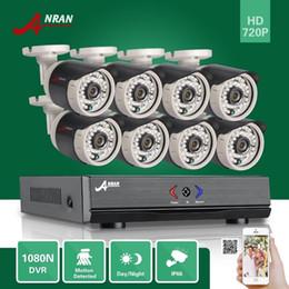 Wholesale Hdmi 8ch - ANRAN Plug Play 8CH HDMI 1080N AHD DVR 720P 1800TVL 36 IR Outdoor Waterproof Bullet CCTV Home Surveillance Security Camera System