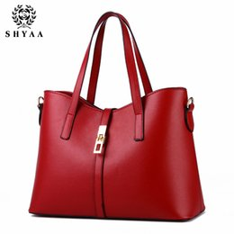 Wholesale Handbag Summer Folding - SHYAA-Summer fashion PU leather bag ladies tote Shoulder bag handbags women brand waterproof folding women messenger bag wholesale