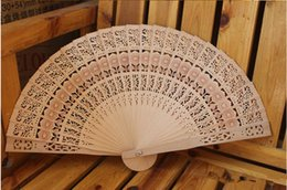 Wholesale Ivory Wedding Fans - New Wooden Hand Fans Portable Lady Wedding Handmade Folding Fans Cheap Wholesale 50pcs Lot DHL Free Ship