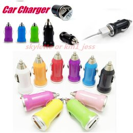 Wholesale Dual 1a Usb Phone Charger - Universal USB Dual Car Charger 1A Adapter Short Circuit Protection car Chargers for Galaxy S7 S6 iPad iPhone 5S iPod HTC Samsung Cell Phone