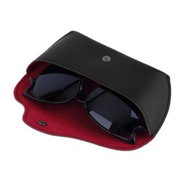 Wholesale Eyeglasses Storage Case - Wholesale-Durable PU Leather Glasses Case Sunglasses Eyeglasses Storage Holder Box Bag cases Drop Shipping Wholesale