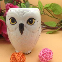 Wholesale Glazed Ceramic Coffee Mug - Hedwig Owl Mug Ceramic Mug Coffe Cup 3D Cartoon Coffee Mug Tea Cup Creative Tea Cup