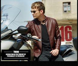 Wholesale Leather Stylish Winter Jacket - Fall-2016 New jacket men fashion mens PU leather jackets and coats stylish motorcycle jacket winter mens fur coat biker jacket (N727)