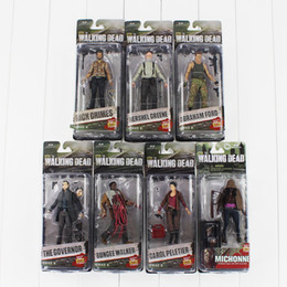 Wholesale Walking Dead Action Figures - The Walking Dead Michonne Ford Daryl Dale Zombie Rick Philip PVC Action Figure Collectable Model Toy 12cm free shipping retail